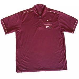Nike FSU Dri Fit  Golf Pocket Polo Shirt Mens XL